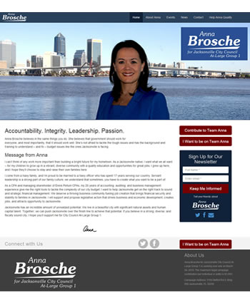 Vote Anna Brosche | Website by Gale Force Web Pros