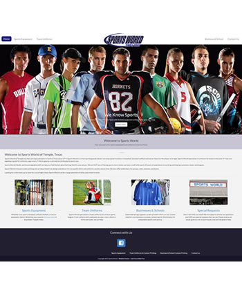 Sports World of Temple TX | Website by Gale Force Web Pros