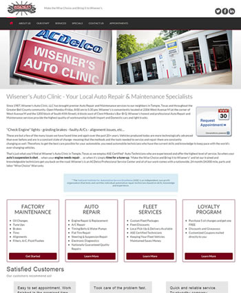 Wisener's Auto Clinic | Website by Gale Force Web Pros